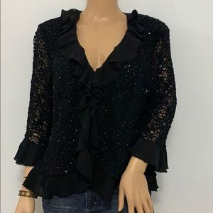 T&M Richards Woman's Black Cardigan.